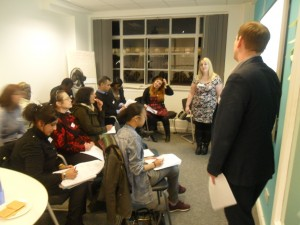 A recent CPD training evening with Axcis