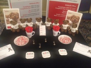 Come and see us at the Axcis stand for recruitment advice. Or just an Axcis goodie bag!