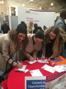 A simple 2 minute form could end up leading to your dream job - so come and find us at the fair!