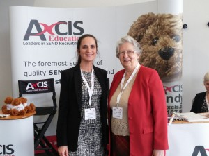 Dr Rona Tutt (right) with Axcis Associate Director, Catherine Friel.