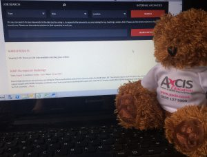 Axcis Andy checking out our jobs pages!