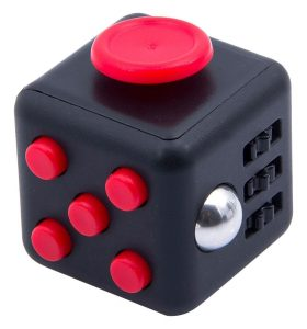 Win a set of 5 of these funky fidget cubes in our April giveaway.