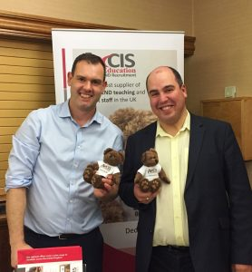 Dr Adam Boddison (right) with Axcis manager Mat